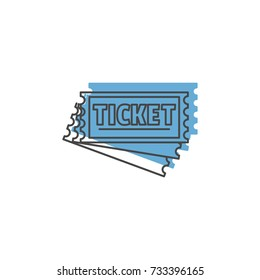 Ticket icon. Doodle illustration of Ticket vector icon for web isolated on white background