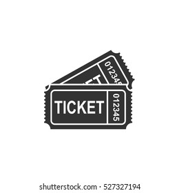Ticket icon flat. Illustration isolated vector sign symbol