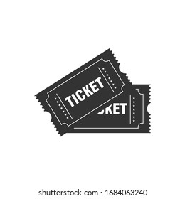Ticket icon isolated on white background. Vector illustration.