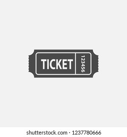 Ticket icon with ticket number