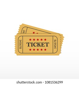 Ticket icon. Ticket on event. Vector illustration.