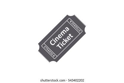 Ticket icon on white background. Vector illustration.