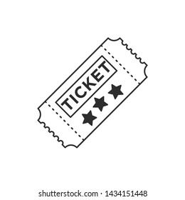 Ticket icon template black color editable. Ticket style vector sign isolated on white background. Simple logo vector illustration for graphic and web design.