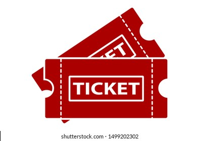 Ticket icon template Red color editable. Ticket style vector sign isolated on white background. Simple logo vector illustration for graphic and web design.