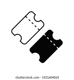 Ticket icon in trendy flat design