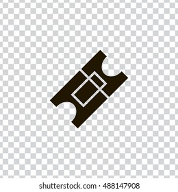 Ticket icon vector, clip art. Also useful as logo, web element, symbol, graphic image, transparent silhouette and illustration. Compatible with ai, cdr, jpg, png, svg, pdf, ico  and eps formats.