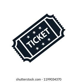 Ticket icon vector flat trendy logo template