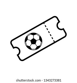 ticket icon vector. football icon sign