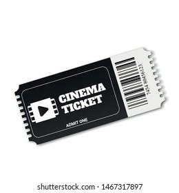 Ticket icon vector. Logo illustrattion. Realistic cinema or movie tickets template. Vector illustration EPS10
