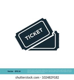 Ticket Icon Vector Logo Template
