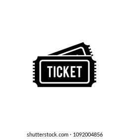 Ticket icon vector logo template