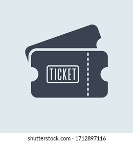 ticket icon. vector symbol in flat simple style