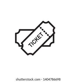 ticket icon vector template trendy