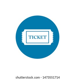 Ticket icon vector in trendy flat style isolated on background, for your web site design, app, logo, UI. Vector illustration, EPS10.
