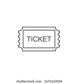 Ticket line Icon. Pass, Permission or Admission Symbol, Vector Illustration & Logo Template. Presented in Glyph Style for Design & Websites, Presentation or Mobile Apps