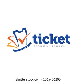 Ticket Logo Design Vector