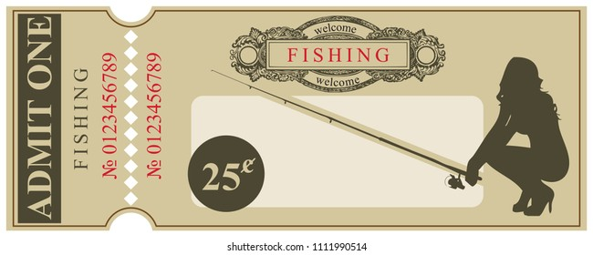 Ticket in the old style - Welcome to the fishing