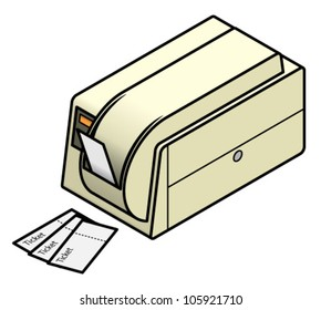 A ticket printer commonly used in sporting and entertainment events.