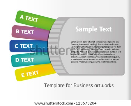 Ticket style business folder template colorful stock vector royalty ticket style business folder template with colorful listing accmission Images
