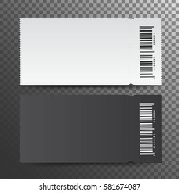 Ticket template.  isolated on a transparent background