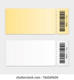 Ticket template. Vector