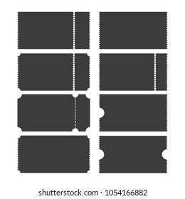 Ticket template vector icon