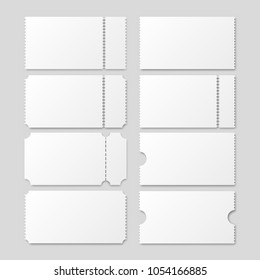 Ticket template. Vector  realistic