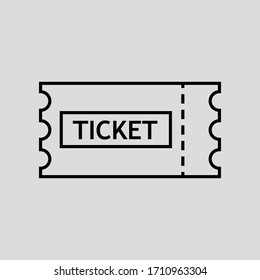ticket vector icon flat simple