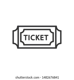 Ticket vector icon in modern design style for web site and mobile app