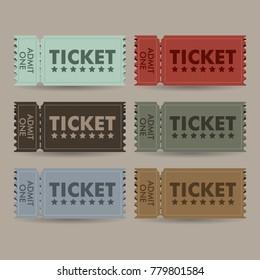 ticket vintage vector template