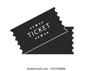 Tickets for attending an event or film on a transparent background. Beautiful modern travel flyers.