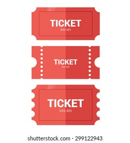 Tickets icon. Flat design. Vector illustration