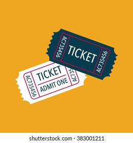 Tickets icon. Vector illustration