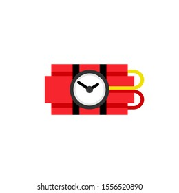 Ticking time bomb icon. Clipart image isolated on white background