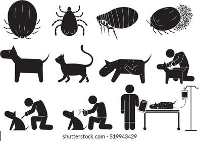 ticks icon set