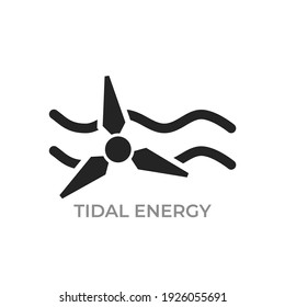 tidal energy icon. environment, alternative, sustainable and renewable energy symbol. isolated vector image