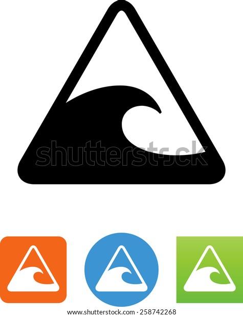 Tidal Wave Warning Icon Stock Vector (Royalty Free) 258742268