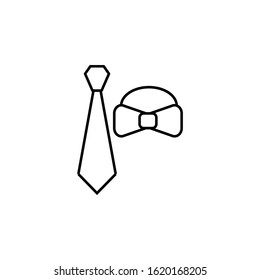 tie, cravat line icon. Elements of wedding illustration icons. Signs, symbols can be used for web, logo, mobile app, UI, UX