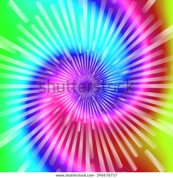Tie Dye Colors Beautiful Realistic Spiral Stock Vector ...