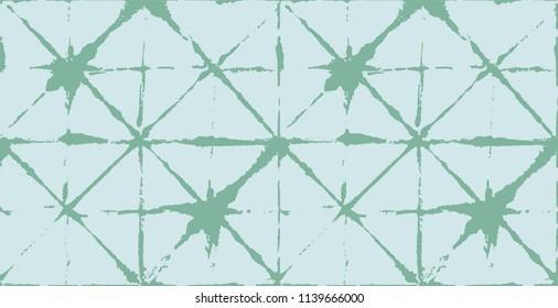 Tie Dye Prints, Watercolor Kimono Organic Texture. Funky Wabi Sabi, Ikat Traditional Pattern. Horizontal Turquoise Batik Boho Pattern Fabric Background. Japanese Kimono Fabric Pattern.