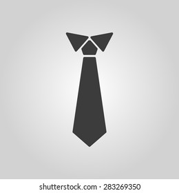 The tie icon. Necktie and neckcloth symbol. Flat Vector illustration