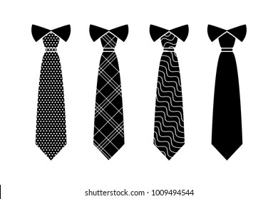 Tie Icon in trendy flat style isolated on white background. Necktie symbol for your web site design, logo, app, UI. Vector illustration,