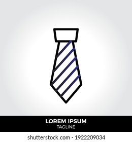 Tie icon in trendy style isolated on grey background. Fashion symbol for your web site design, logo, app, UI. Eps10 vector illustration.