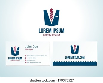 "Tie lighthouse icon vector design elements with business card. Here the free fonts ""Bebas Neue"" and ""Colaborate"" are used."