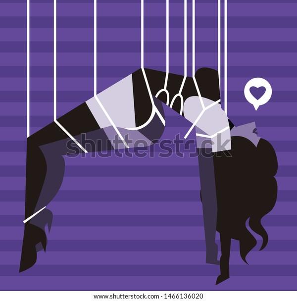tied up hanged shibari bdsm sexy woman