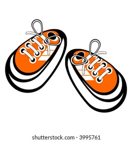 cartoon tennis shoes images stock photos vectors shutterstock rh shutterstock com Cartoon Tennis Shoes Running free cartoon tennis shoes clipart