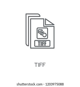 Tiff linear icon. Tiff concept stroke symbol design. Thin graphic elements vector illustration, outline pattern on a white background, eps 10.