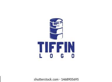 Tiffin logo design.Vector illustration. Isolated on white background.