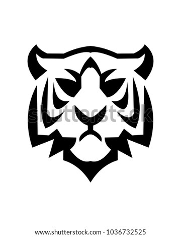 Tiger Abstract Logo Template Stock Vector Royalty Free 1036732525