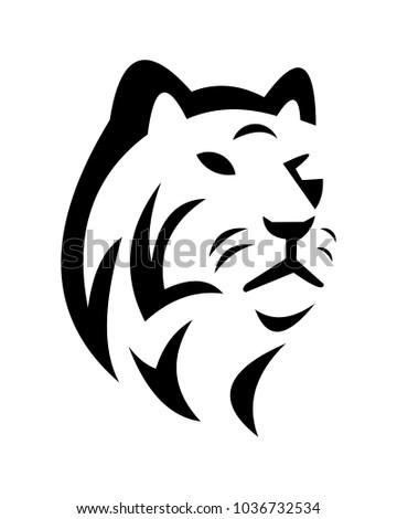 Tiger Abstract Logo Template Stock Vector Royalty Free 1036732534